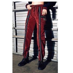 LF THE BRAND BURGUNDY RED ZIPPER TRACKPANT